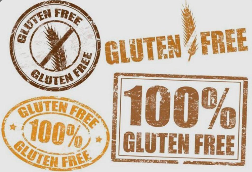 Sello garantía 'gluten free', '100% gluten free'. Poppyns Magazine